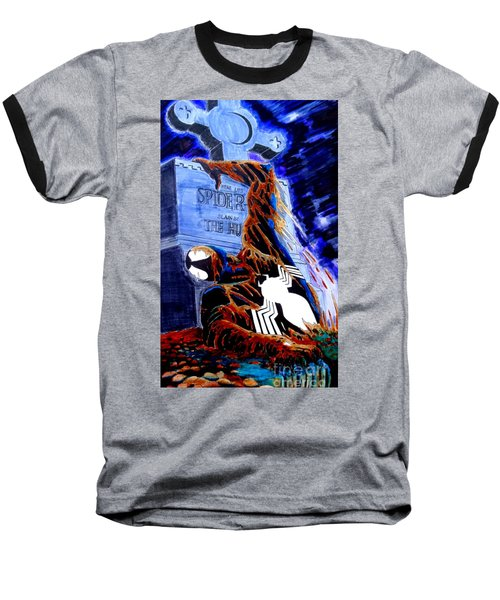 Baseball T-Shirt featuring the drawing Spider Resurrection Pop Art by Justin Moore
