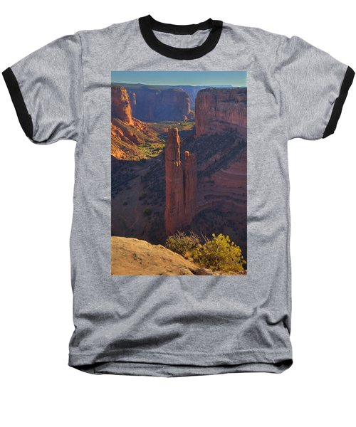 Baseball T-Shirt featuring the photograph Spider Rock by Alan Vance Ley