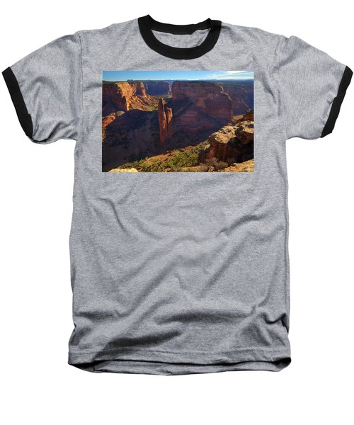 Baseball T-Shirt featuring the photograph Spider Rock Sunrise by Alan Vance Ley