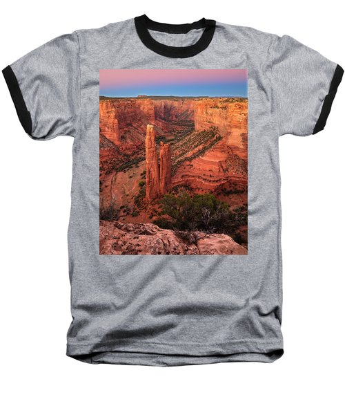 Spider Rock Sunset Baseball T-Shirt