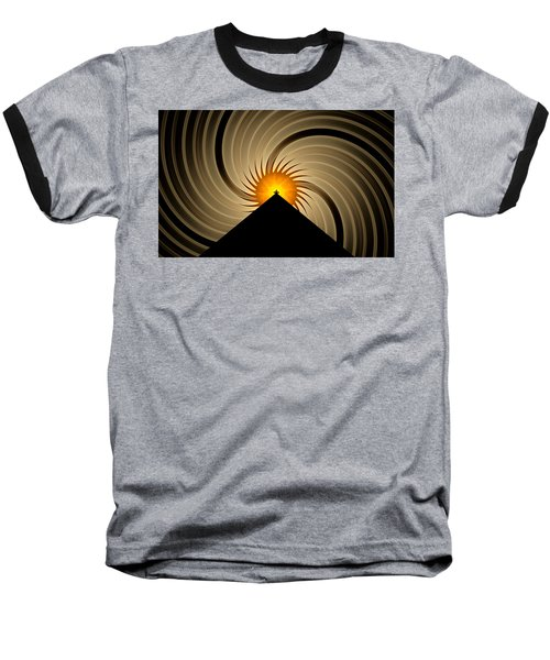 Baseball T-Shirt featuring the digital art Spin Art by GJ Blackman