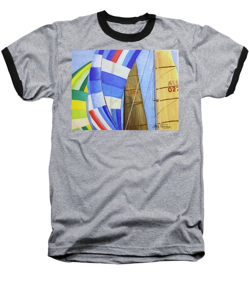 Baseball T-Shirt featuring the painting Spinnakers by Stan Tenney