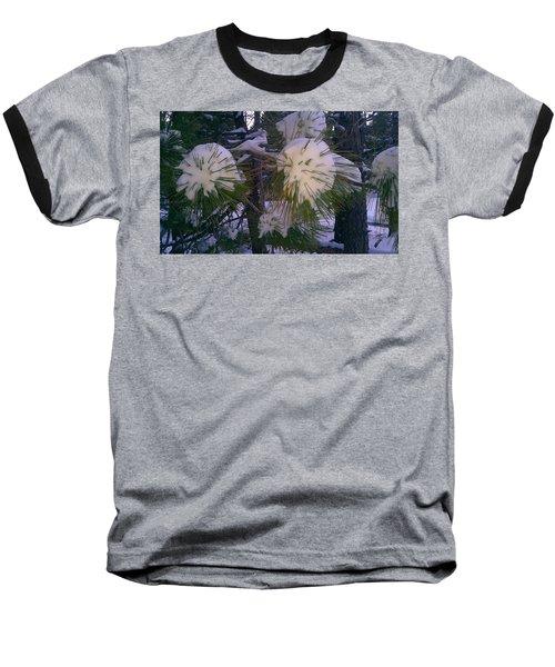 Spiny Snow Balls Baseball T-Shirt by Chris Tarpening