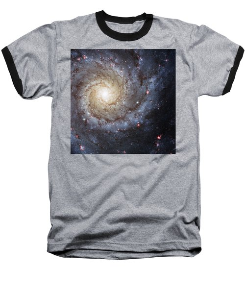 Spiral Galaxy M74 Baseball T-Shirt by Adam Romanowicz
