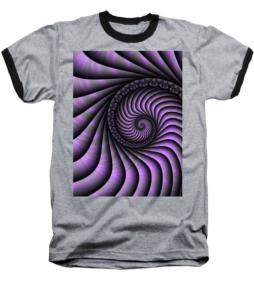 Spiral Purple And Grey Baseball T-Shirt