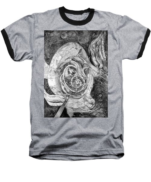 Baseball T-Shirt featuring the painting Spiral Rapture 2 by Otto Rapp