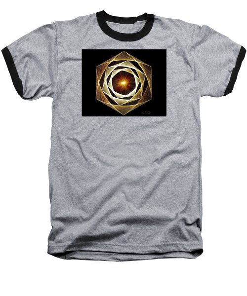 Baseball T-Shirt featuring the drawing Spiral Scalar by Jason Padgett