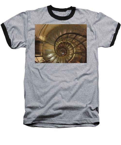 Spiral Staircase Baseball T-Shirt by Pema Hou