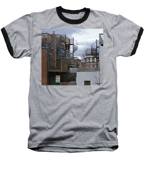 Baseball T-Shirt featuring the photograph Spiral Stairs by Brian Wallace
