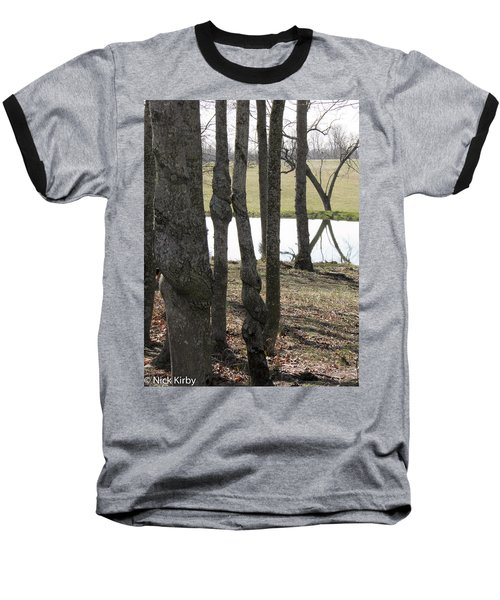 Baseball T-Shirt featuring the photograph Spiral Trees by Nick Kirby