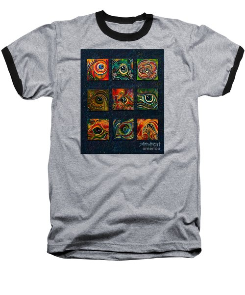 Baseball T-Shirt featuring the painting Spirit Eye Collection I by Deborha Kerr