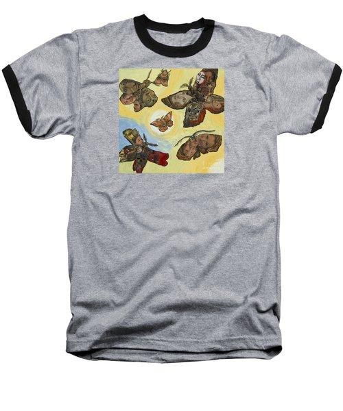 Spirit Lights Baseball T-Shirt by Emily McLaughlin