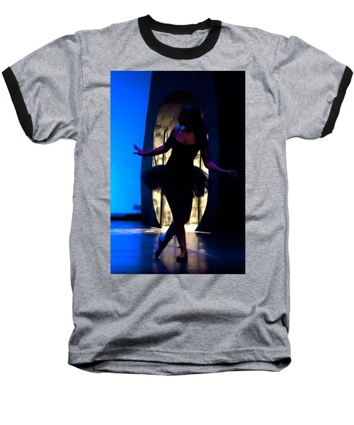 Spirit Of Dance 3 - A Backlighting Of A Ballet Dancer Baseball T-Shirt