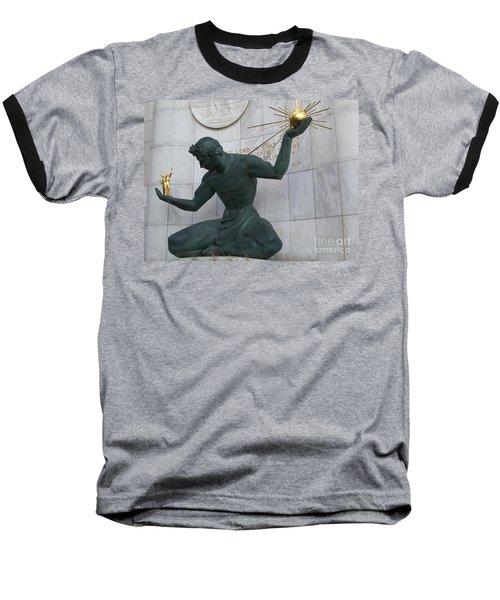 Spirit Of Detroit Baseball T-Shirt by Ann Horn