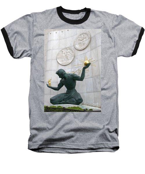 Spirit Of Detroit Monument Baseball T-Shirt