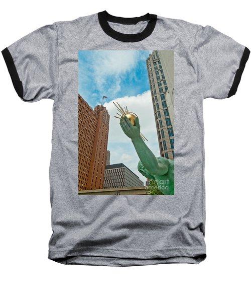 Spirit Of Detroit's Left Hand Baseball T-Shirt