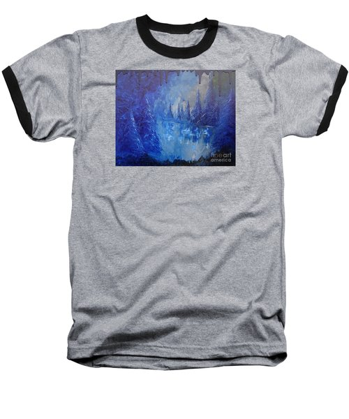 Baseball T-Shirt featuring the painting Spirit Pond by Jacqueline Athmann