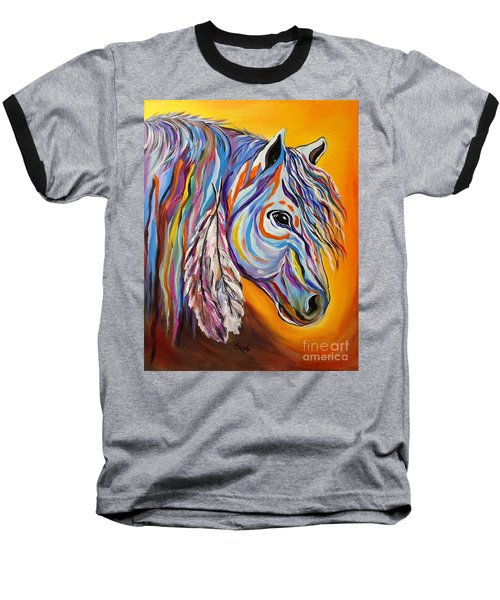 'spirit' War Horse Baseball T-Shirt by Janice Rae Pariza