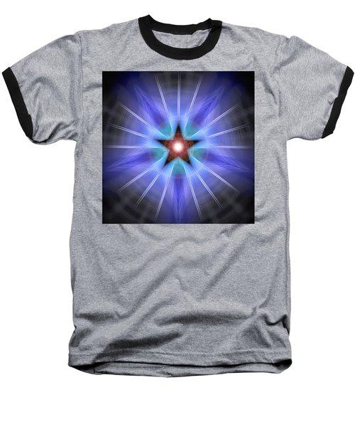 Baseball T-Shirt featuring the drawing Spiritual Pulsar by Derek Gedney