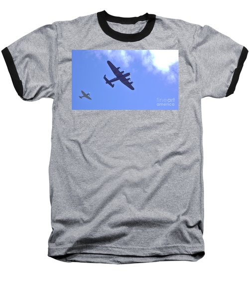 Baseball T-Shirt featuring the photograph Spitfire  Lancaster Bomber by John Williams