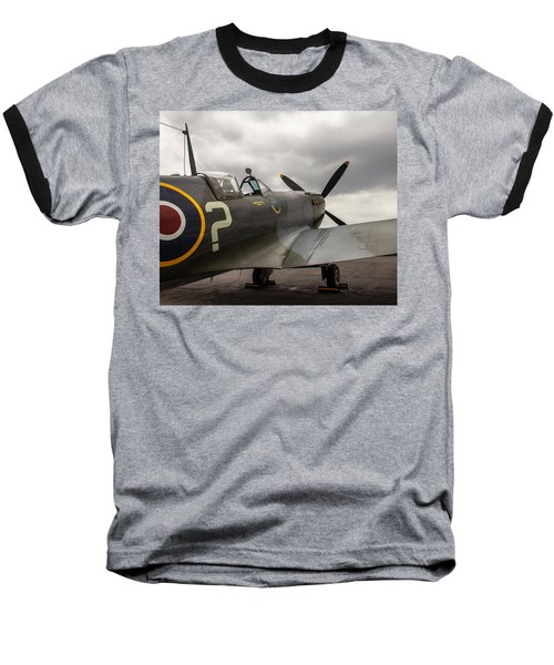 Spitfire On Display Baseball T-Shirt