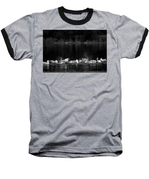 Baseball T-Shirt featuring the photograph Splashing Seagulls by Yulia Kazansky