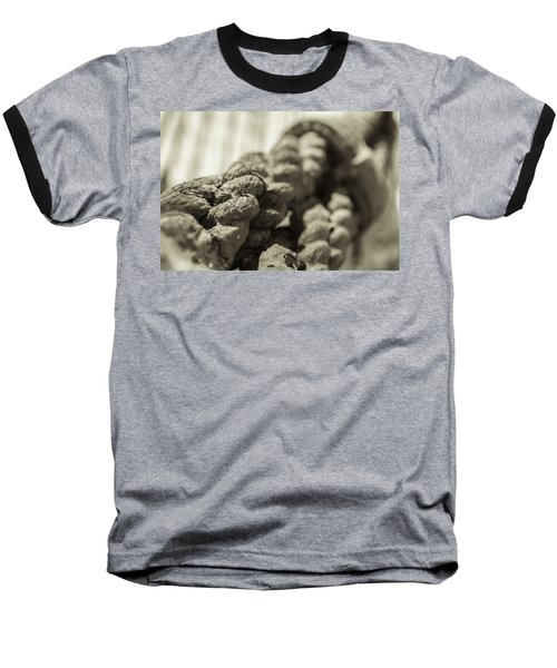 Spliced And Bound Black And White Sepia Baseball T-Shirt