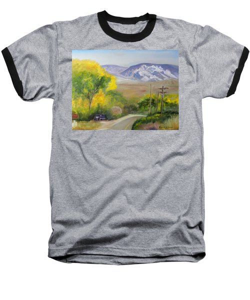 Baseball T-Shirt featuring the painting Split Mountain On Golf Course Road by Sherril Porter