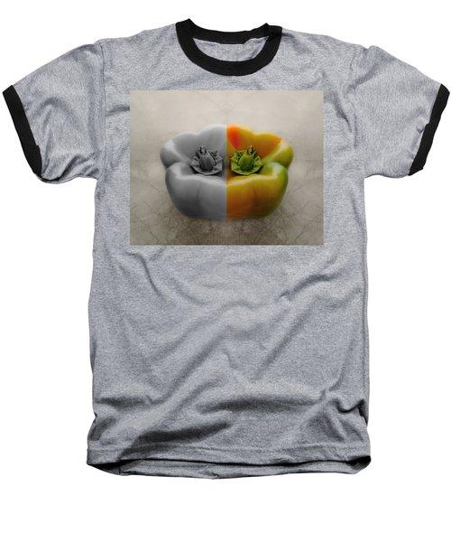 Split Pepper Baseball T-Shirt by Don Spenner