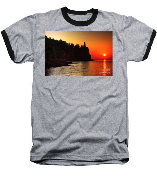 Split Rock Lighthouse - Sunrise Baseball T-Shirt
