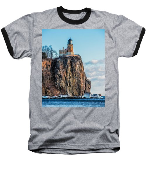 Split Rock Lighthouse In Winter Baseball T-Shirt