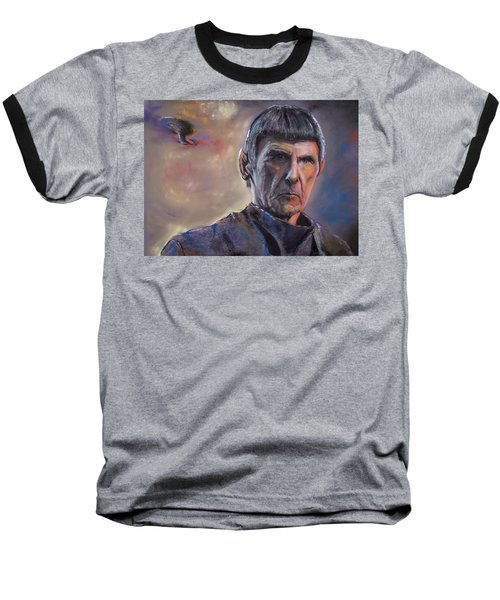Baseball T-Shirt featuring the mixed media Spock by Peter Suhocke