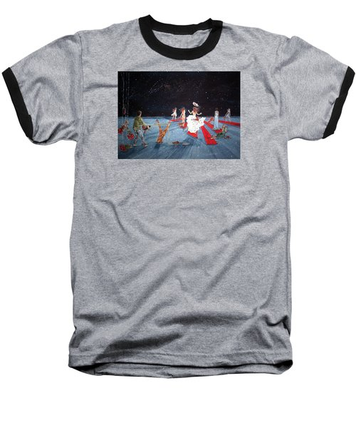 Spontaneous Gallantry Baseball T-Shirt by Lazaro Hurtado