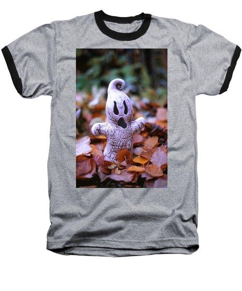 Spooky Autumn Baseball T-Shirt by Aaron Aldrich