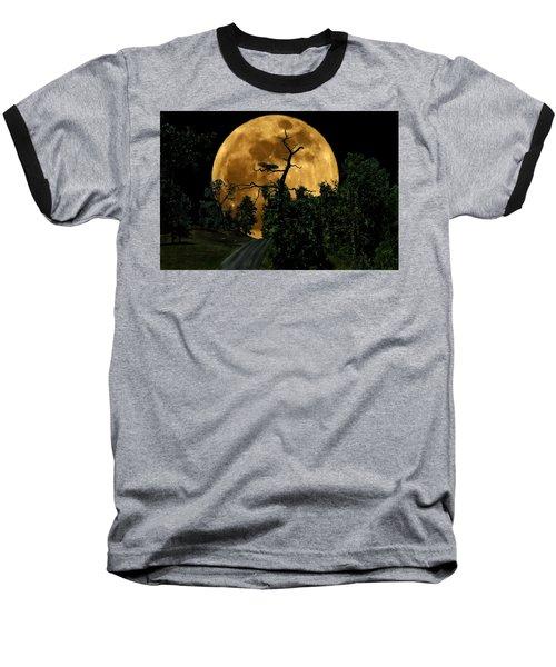 Spooky Road Baseball T-Shirt