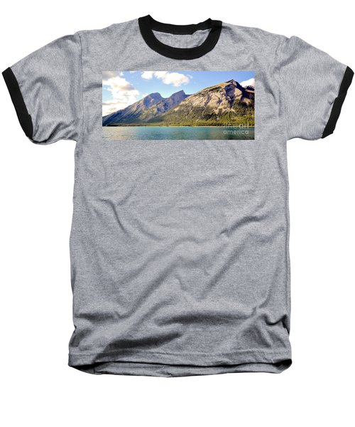 Spray Lake Mountains Baseball T-Shirt