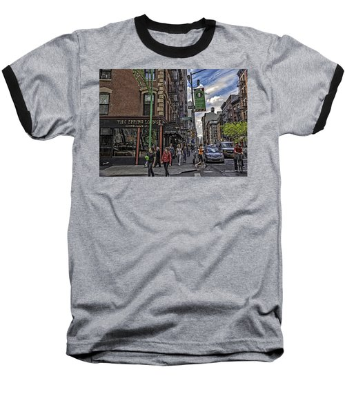 Spring And Mulberry - Street Scene - Nyc Baseball T-Shirt