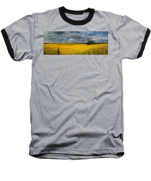 Spring At Oilseed Rape Field Baseball T-Shirt by Davorin Mance
