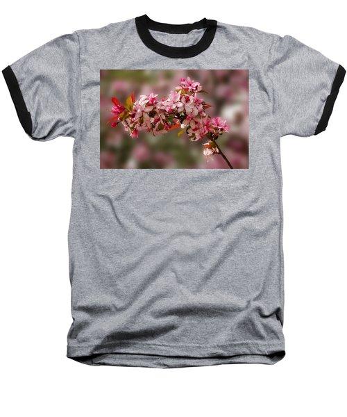 Cheery Cherry Blossoms Baseball T-Shirt