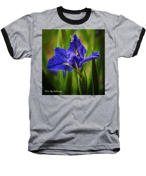 Spring Blue Iris Baseball T-Shirt