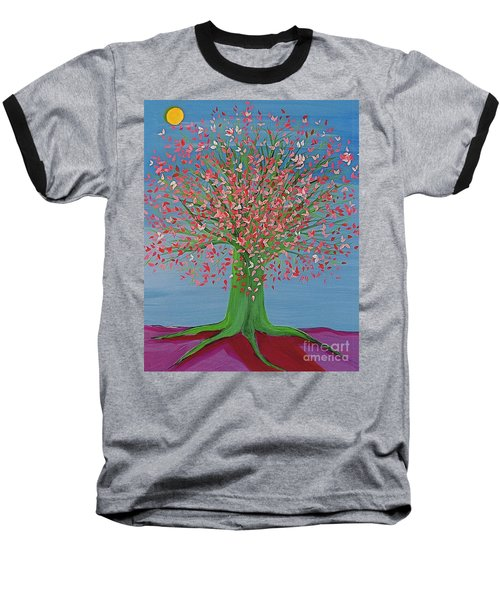 Spring Fantasy Tree By Jrr Baseball T-Shirt