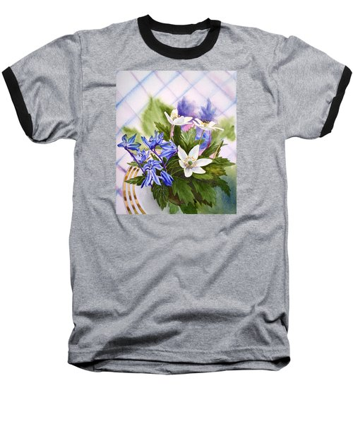 Baseball T-Shirt featuring the painting Spring Flowers by Irina Sztukowski
