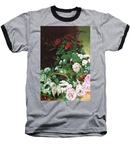 Spring Flowers Study Of Monet Baseball T-Shirt