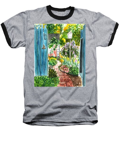 Spring Garden Baseball T-Shirt by Clara Sue Beym