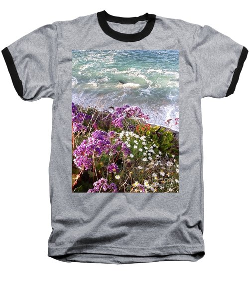 Spring Greets Waves Baseball T-Shirt by Susan Garren