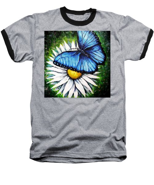 Baseball T-Shirt featuring the painting Spring Has Sprung by Shana Rowe Jackson