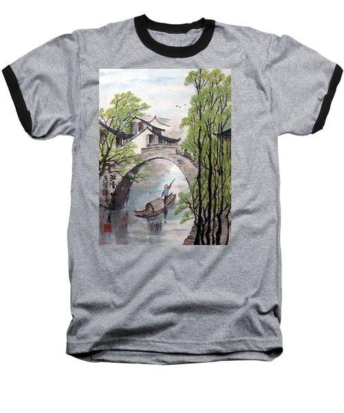 Spring In Ancient Watertown Baseball T-Shirt by Yufeng Wang