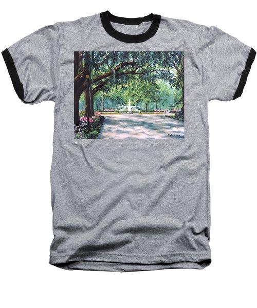 Spring In Forsythe Park Baseball T-Shirt by Stanton Allaben