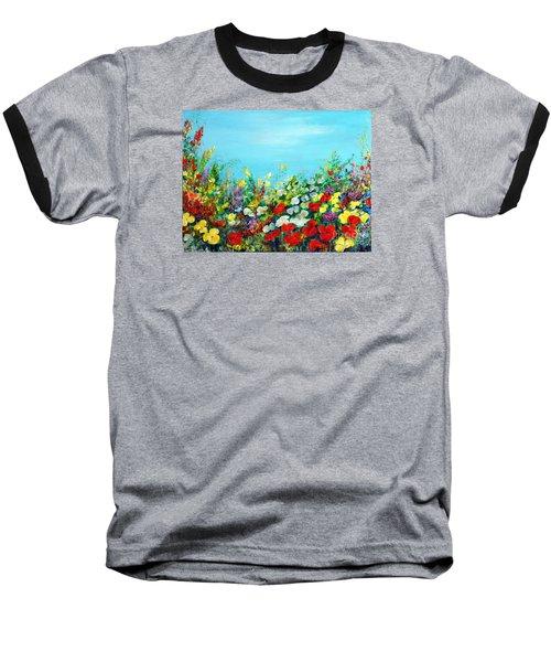 Spring In The Garden Baseball T-Shirt by Teresa Wegrzyn