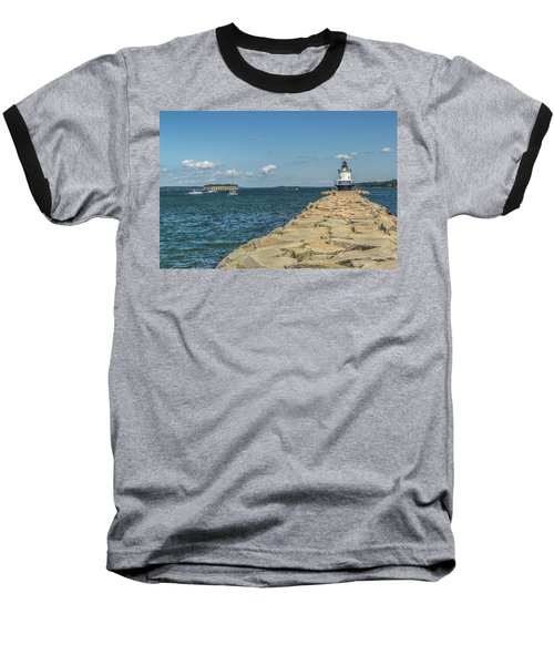 Baseball T-Shirt featuring the photograph Spring Point Ledge Lighthouse by Jane Luxton